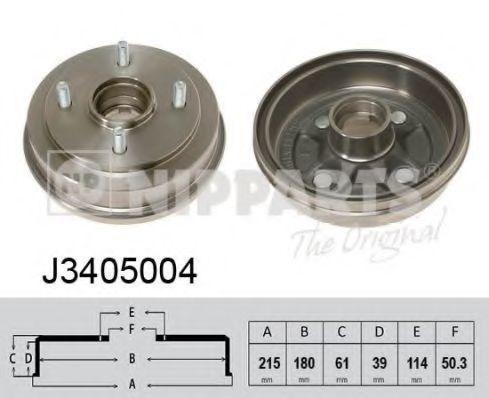 Тормозной барабан NIPPARTS J3405004