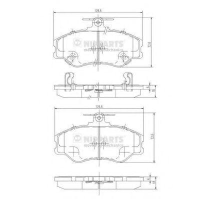 Колодки тормозные NIPPARTS J3600513