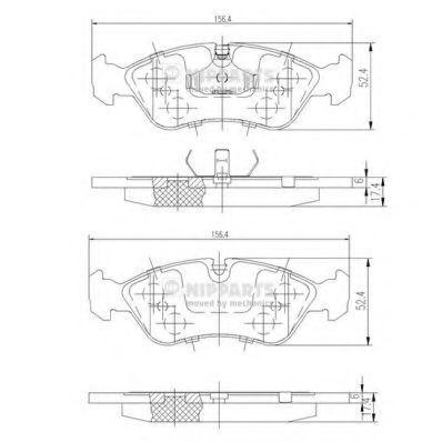 Колодки тормозные NIPPARTS J3600900