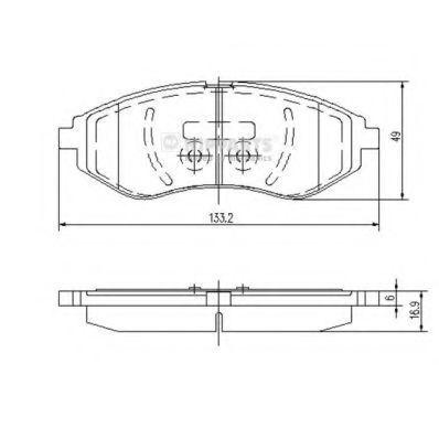 Колодки тормозные передние NIPPARTS J3600911