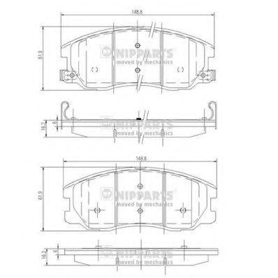 Колодки тормозные передние NIPPARTS J3600913