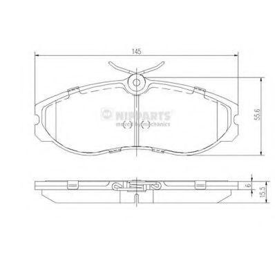 Колодки тормозные передние NIPPARTS J3601056