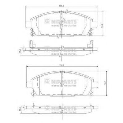 Колодки тормозные передние NIPPARTS J3601071