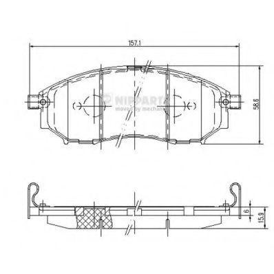 Колодки тормозные передние NIPPARTS J3601094