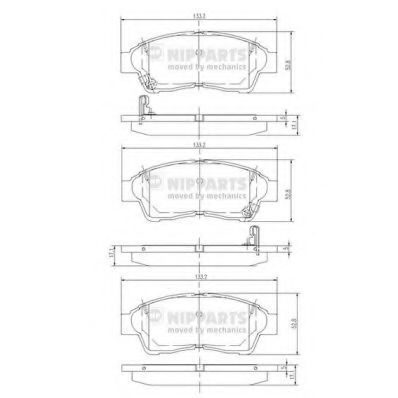 Изображение Колодки тормозные NIPPARTS J3602064: заказать