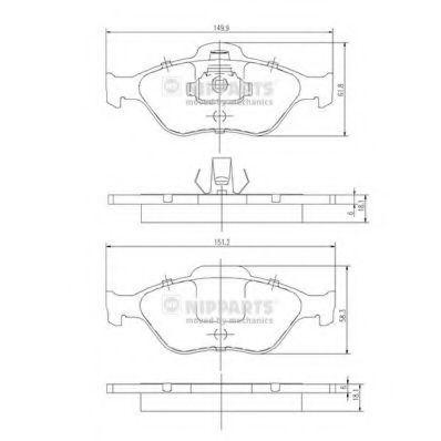 Колодки тормозные передние NIPPARTS J3 603 065