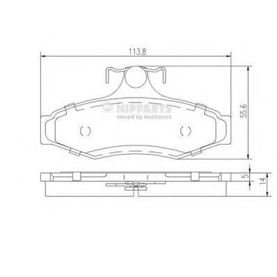 Колодки тормозные NIPPARTS J3610901