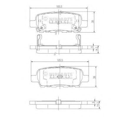 Изображение Колодки тормозные NIPPARTS J3611044: купить