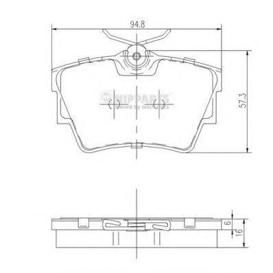 Колодки тормозные NIPPARTS J3611047
