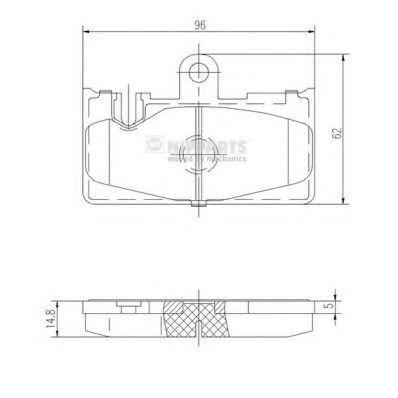 Колодки тормозные NIPPARTS J3612029