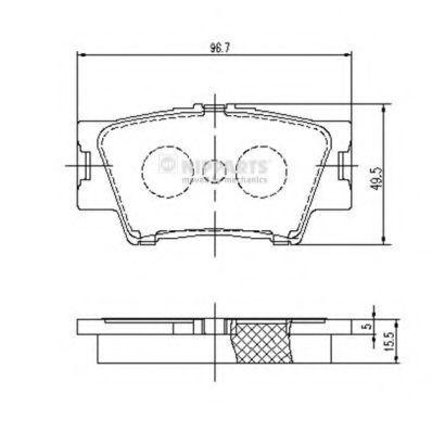 Колодки тормозные NIPPARTS J3612035