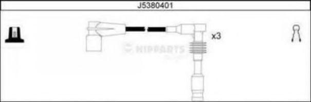 Комплект проводов зажигания NIPPARTS J5380401