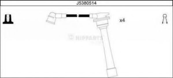 Комплект проводов зажигания NIPPARTS J5380514