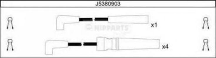 Провода высоковольтные комплект NIPPARTS J5380903