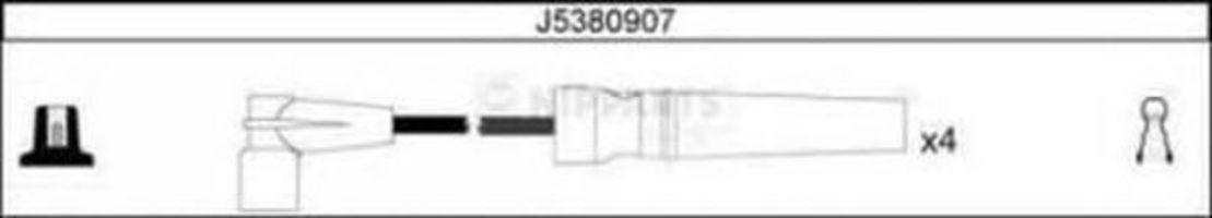 Провода высоковольтные комплект NIPPARTS J5380907