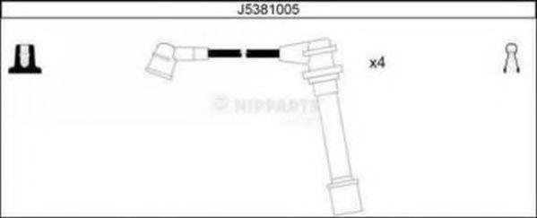 Провода высоковольтные комплект NIPPARTS J5381005