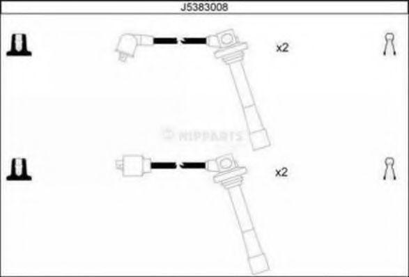 Провода высоковольтные комплект NIPPARTS J5383008