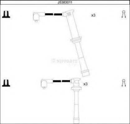 Провода высоковольтные комплект NIPPARTS J5383011