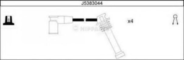 Провода высоковольтные комплект NIPPARTS J5383044