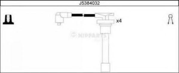 Комплект проводов зажигания NIPPARTS J5384032