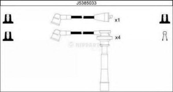 Комплект проводов зажигания NIPPARTS J5385033