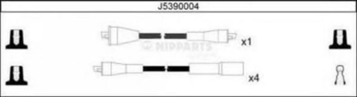 Провода высоковольтные комплект NIPPARTS J5390004