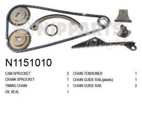 Комплект цели привода распредвала NIPPARTS N1151010
