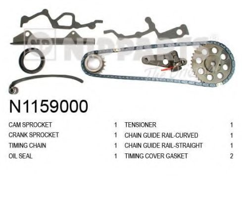 Комплект цели привода распредвала NIPPARTS N1159000