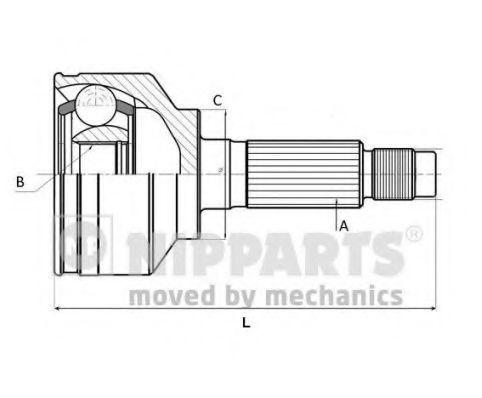 Шарнирный комплект, приводной вал NIPPARTS N2822164