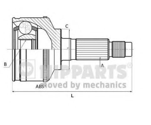 Шарнирный комплект, приводной вал NIPPARTS N2824187