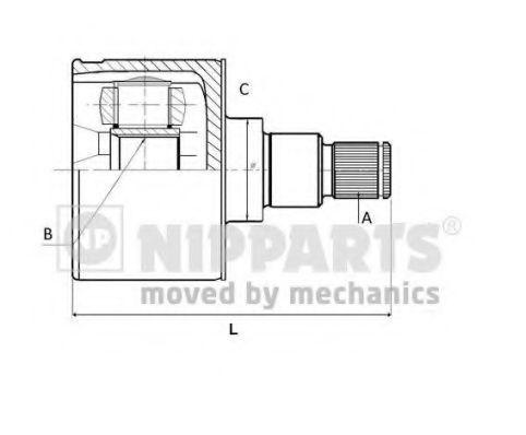 Шарнирный комплект, приводной вал NIPPARTS N2831000