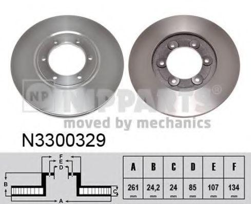 Тормозной диск NIPPARTS N3300329