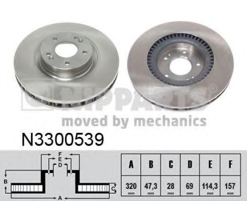Диск тормозной NIPPARTS N3300539