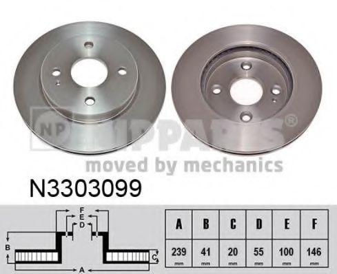 Диск тормозной NIPPARTS N3303099