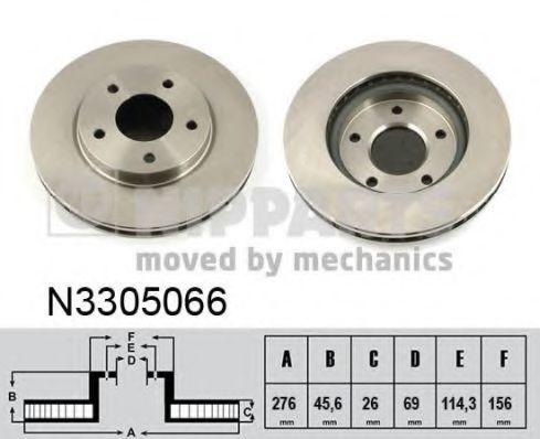 Диск тормозной NIPPARTS N3305066