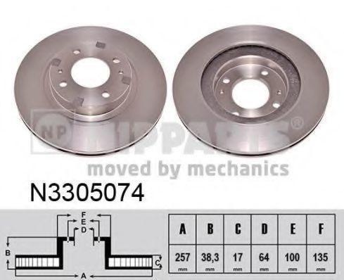 Тормозной диск NIPPARTS N3305074