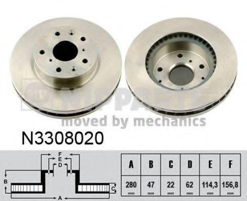 Диск тормозной передний NIPPARTS N3308020