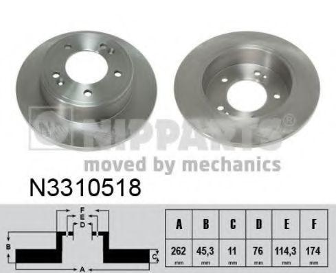 Диск тормозной NIPPARTS N3310518