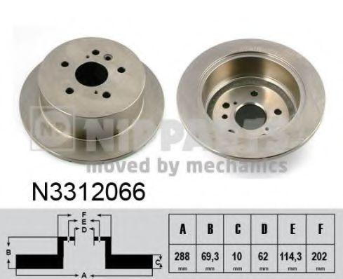 Диск тормозной NIPPARTS N3312066
