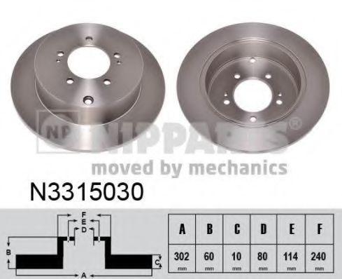 Диск тормозной NIPPARTS N3315030