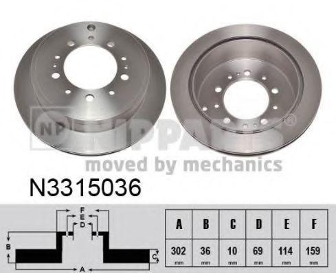 Диск тормозной NIPPARTS N3315036