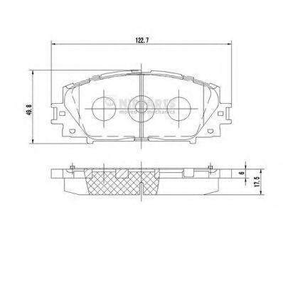 Колодки тормозные NIPPARTS N3602127