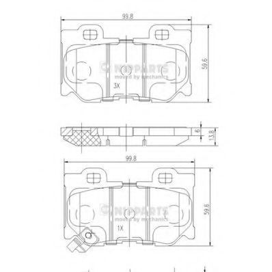 Колодки тормозные NIPPARTS N3611053
