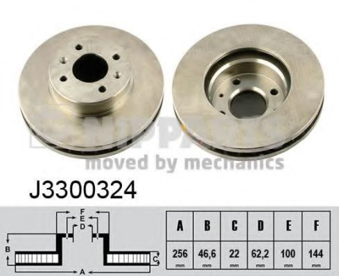 Диск тормозной NIPPARTS J3300324