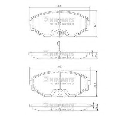 Колодки тормозные NIPPARTS J3601074