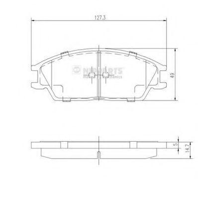 Колодки тормозные NIPPARTS J3604020