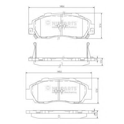 Колодки тормозные NIPPARTS J3604032
