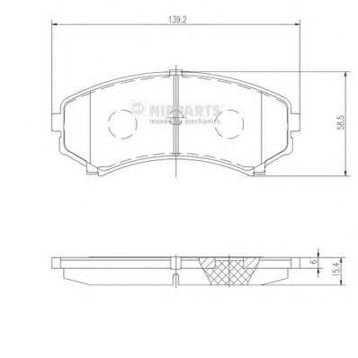 Колодки тормозные передние NIPPARTS J3605039