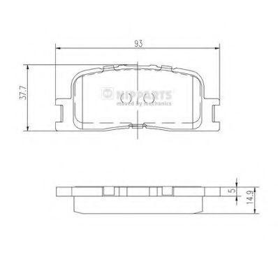 Колодки тормозные NIPPARTS J3612024