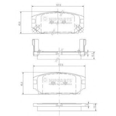 Колодки тормозные NIPPARTS J3615007